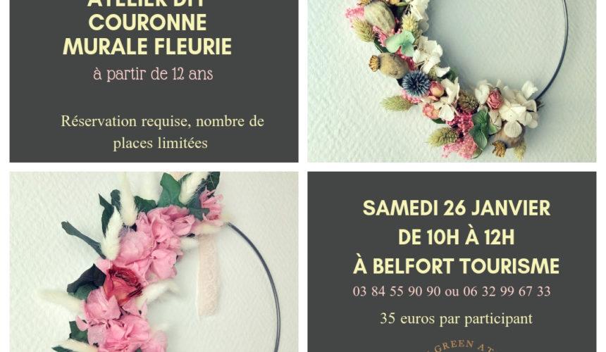 Atelier diy : couronne murale fleurie